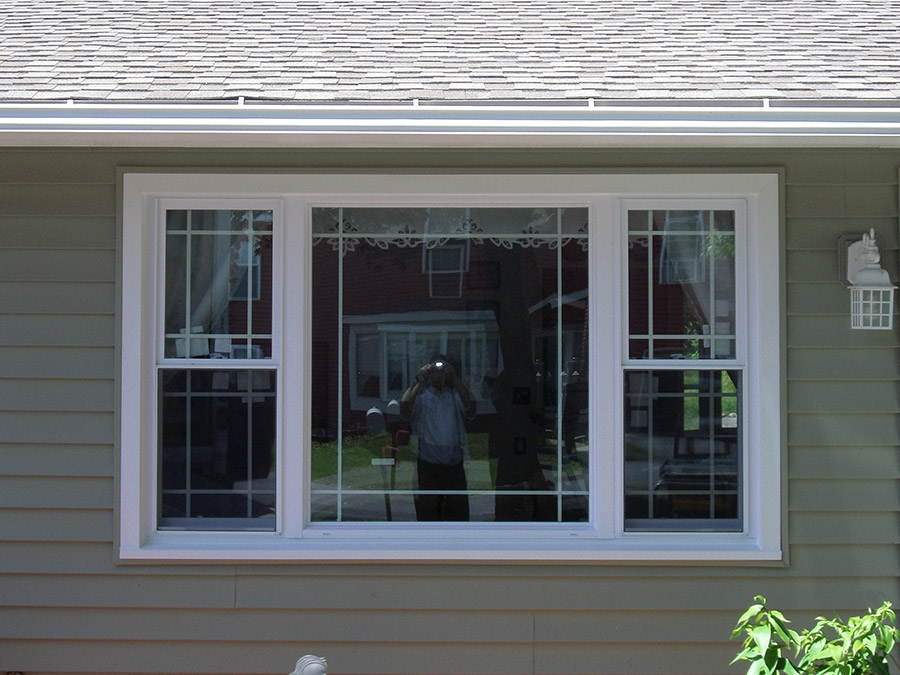 Clearview vinyl windows prairie grid style windows in for Window styles for homes
